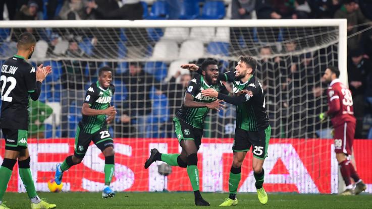 Serie A, il Sassuolo in rimonta piega il Torino