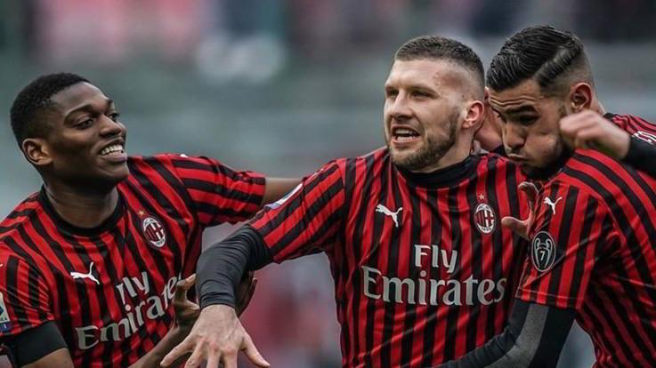 Il Milan doma l'Udinese: il gol di Rebic regala ai rossoneri il 3-2