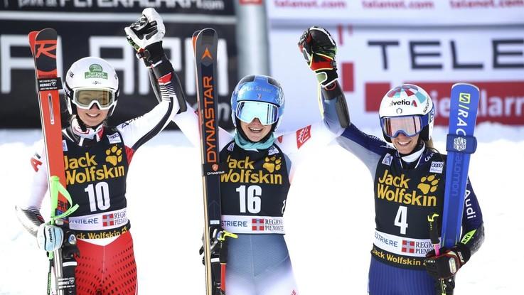 Sestriere, Coppa del Mondo di Sci:  Marta Bassino  terza nel Gigante parallelo