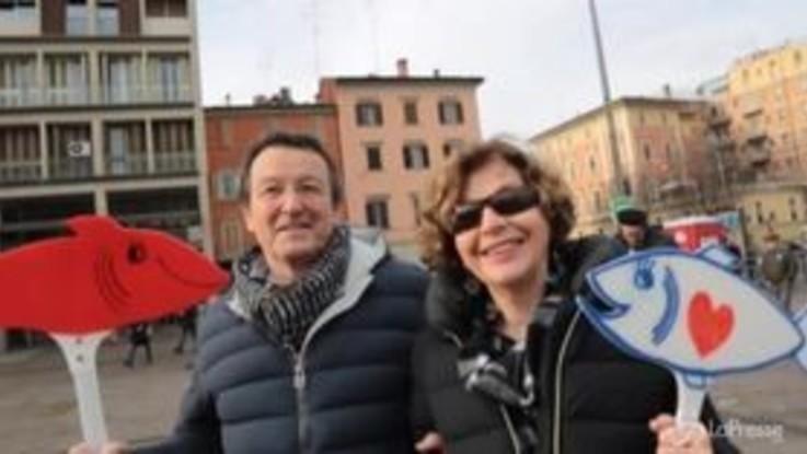 """Bologna, manifestazione Sardine: """"Un modo diverso di fare politica"""""""