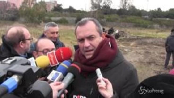 """Al via bonifica Bagnoli, De Magistris: """"Si vedono le ruspe che ci piacciono"""""""