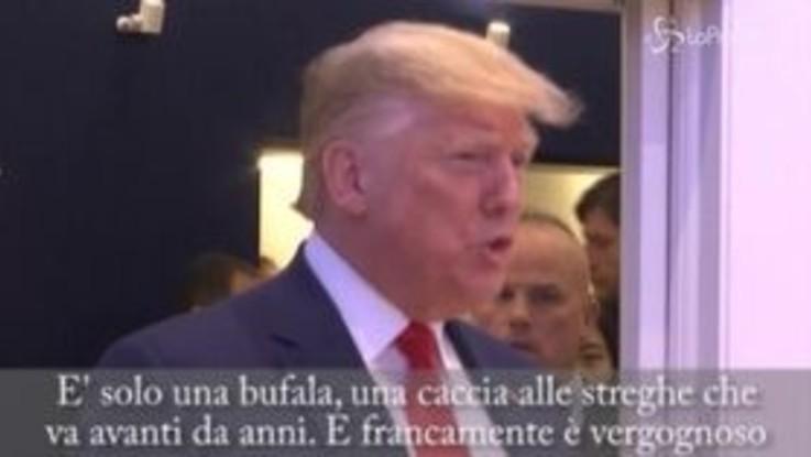 """Trump a Davos: """"Impeachment una bufala, sono un grande sostenitore dell'ambiente"""""""