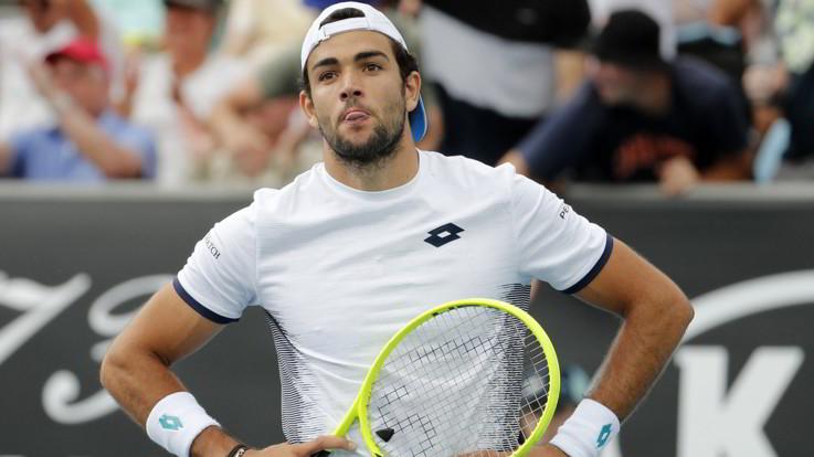 Australian Open: Berrettini fuori al quinto, out anche Sinner