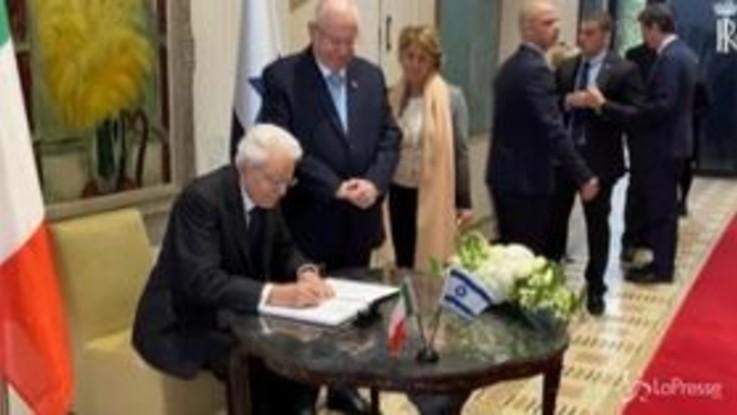 """Mattarella a Gerusalemme: """"Non si abbassi mai la guardia contro l'antisemitismo"""""""