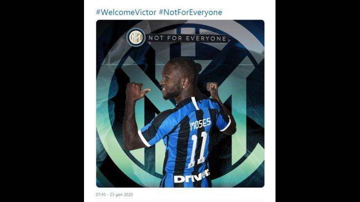 Inter, ufficiale: Victor Moses in prestito dal Chelsea