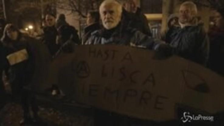 """Bibbiano, cittadini in piazza con le Sardine: """"Partita per la giustizia e la libertà del nostro paese"""""""