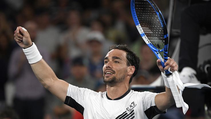 Australian Open, Fognini agli ottavi di finale