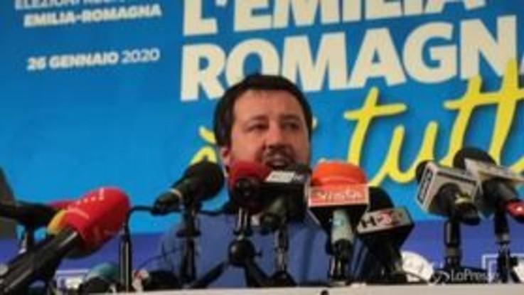 "Regionali, Salvini: ""Un'emozione essere in partita in Emilia-Romagna"""