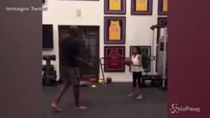 Morte Kobe Bryant, quando l'ex campione giocava a basket con la figlia Gianna Maria