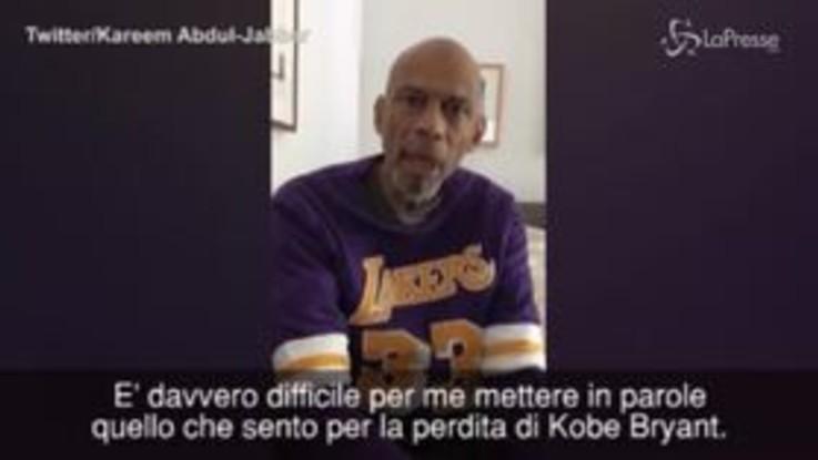 Morte Kobe Bryant, il ricordo commosso di Kareem Abdul-Jabbar