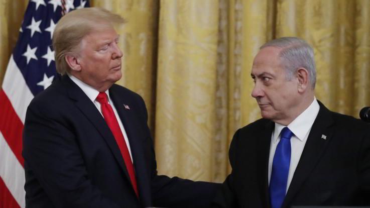 """Medioriente: Trump presenta il suo piano per due Stati: """"Vantaggi per israeliani e palestinesi"""""""