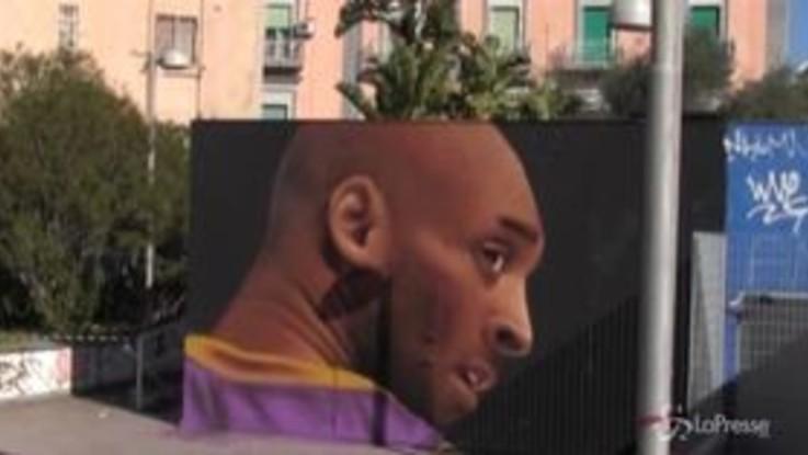 Kobe Bryant, il murale di Jorit a Napoli
