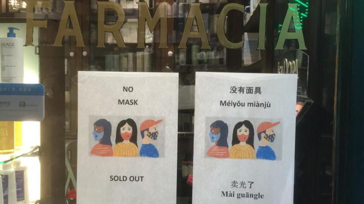 Coronavirus, mascherine e Amuchina 'Sold out' da giorni