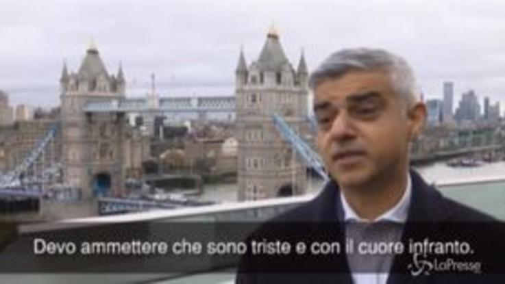 """Brexit, sindaco di Londra: """"Sono triste e con il cuore infranto"""""""
