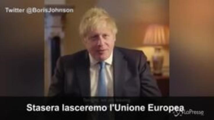 """Brexit, il premier Johnson: """"Non è la fine, ma un inizio"""""""