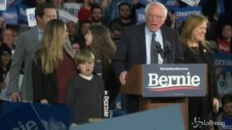 """Caucus in Iowa, Sanders: """"Per Trump oggi è l'inizio della fine"""""""