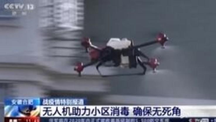 Coronavirus, in Cina i droni spruzzano disinfettante