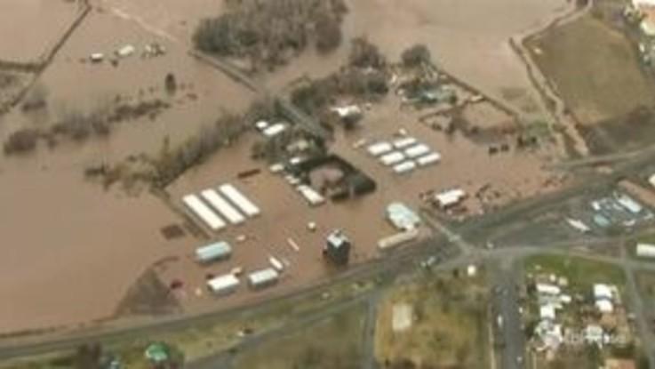 Usa, inondazioni in Oregon, le immagini aeree