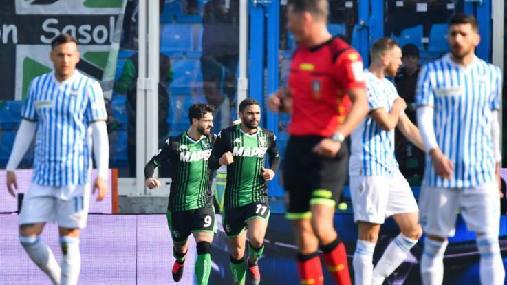 Serie A, il Sassuolo vince 2-1 in rimonta a Ferrara con la Spal
