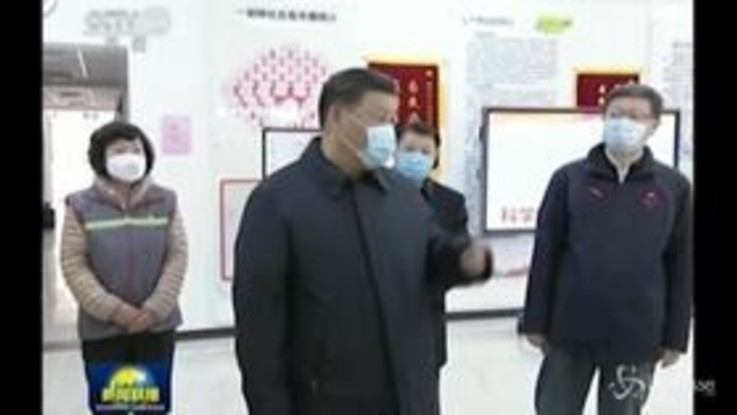 Coronavirus: la visita di Xi Jinping in un'ospedale di Pechino
