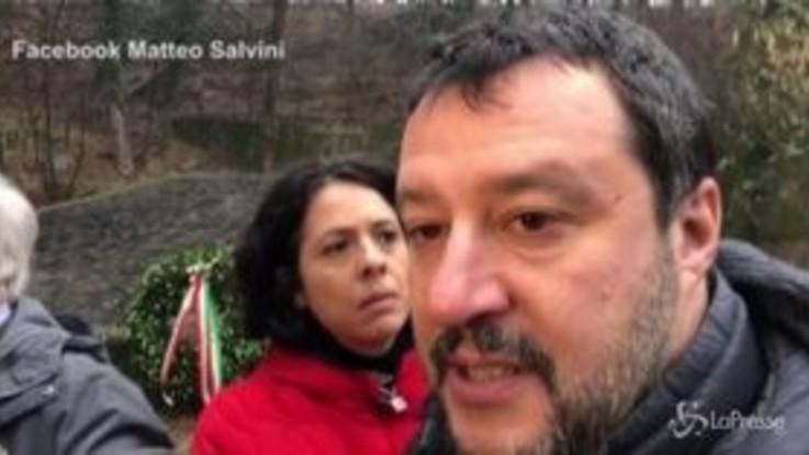 """Foibe, Salvini: """"Una giornata che dovrebbe unire il Paese"""""""