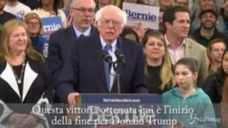 """Usa 2020, Sanders vince in New Hampshire: """"Per Trump è l'inizio della fine"""""""