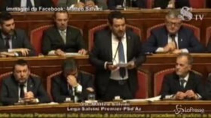 """Caso Gregoretti, Salvini: """"Mai vorrò che giudice entri qua a giudicare atto politico"""""""