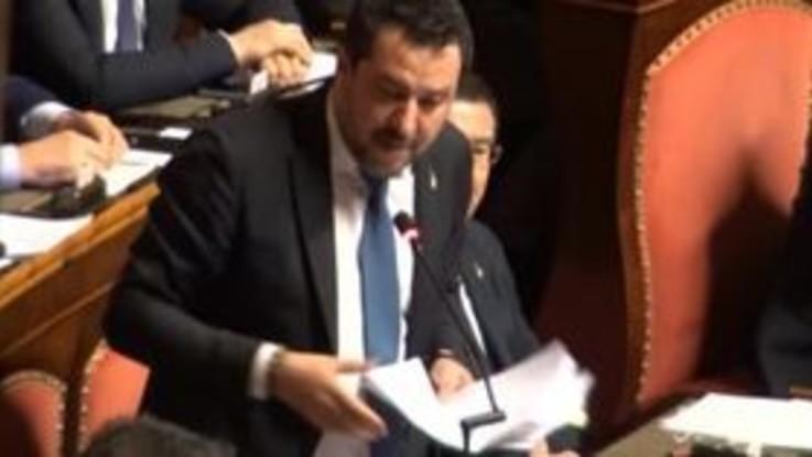 """Gregoretti, Salvini: """"Il mio è un precedente pericoloso, condivido l'intervento di Casini"""""""