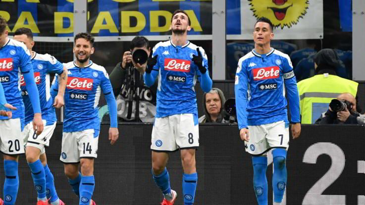 Calcio, Coppa Italia: Inter-Napoli 0-1 finale