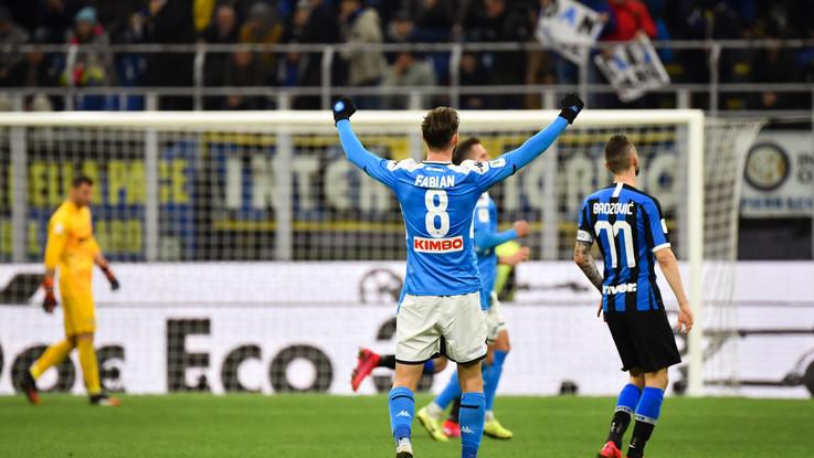 Coppa Italia, il Napoli espugna San Siro: Inter battuta 1-0