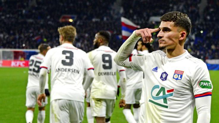 Coppa Francia: Lione in semifinale, Marsiglia ko 1-0