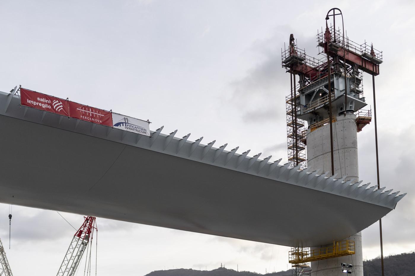 Genova, il cantiere per il nuovo viadotto sul Polcevera