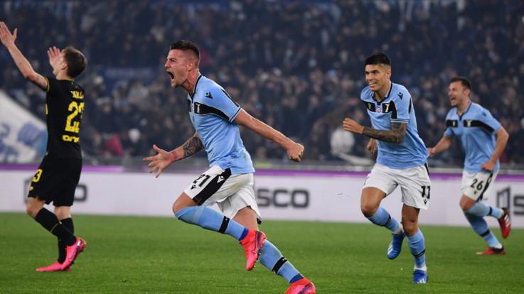 Serie A, Immobile-Milinkovic ribaltano Inter e Lazio vola seconda