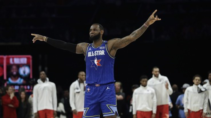 Nba: team LeBron rimonta e vince l'All Star Game. Mvp a Kawhi Leonard