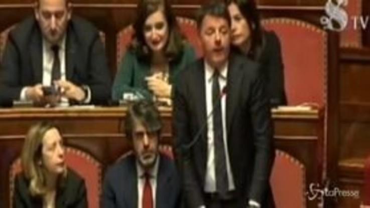 """Renzi in Senato: """"No a divisioni in Ue, Conte ci rappresenta appieno"""""""