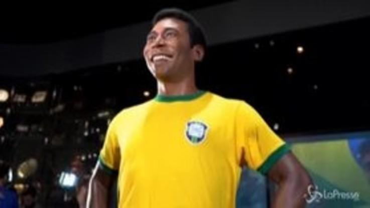 Brasile, la Federcalcio svela la statua dedicata a Pelé