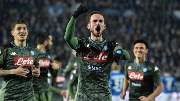 Serie A, Napoli ribalta Brescia con Insigne-Fabian e vede Europa