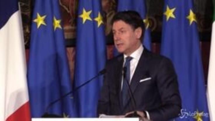 Italia-Francia, Conte: Favorevoli a embargo armi in Libia