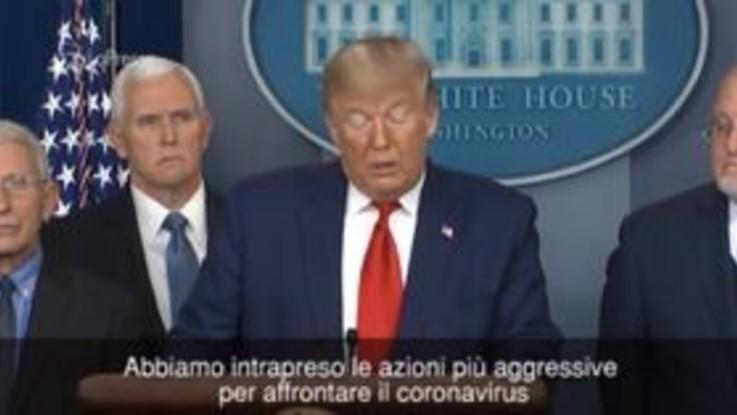 """Coronavirus, Trump: """"Siamo pronti a qualunque circostanza, niente panico"""""""