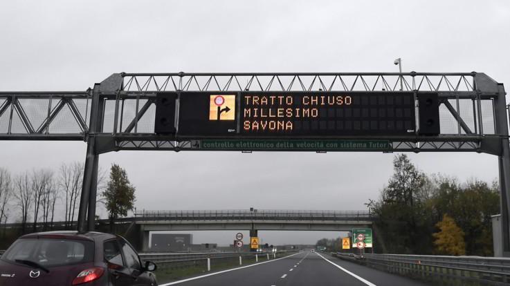 Maltempo, chiuso per precauzione un viadotto sulla A6 Torino-Savona