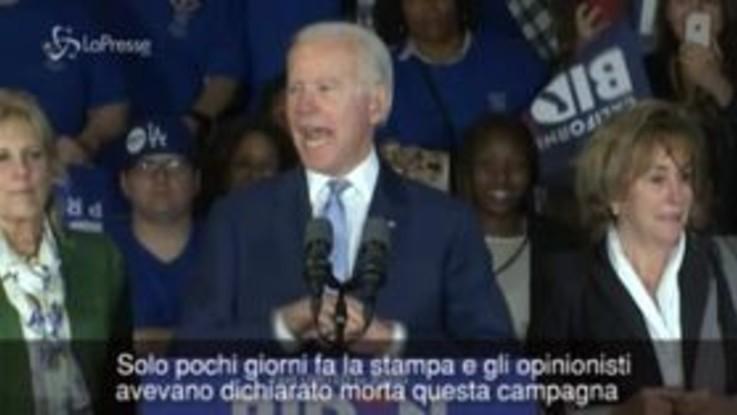 """Super Tuesday, uragano Biden: """"Ci davano per morti, siamo più vivi che mai"""""""