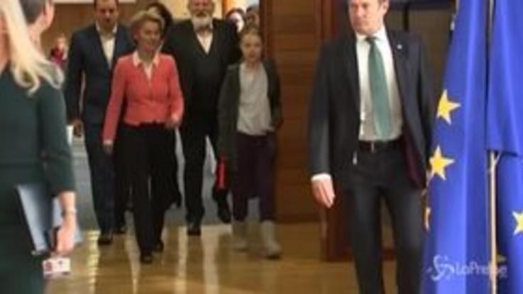 Greta Thunberg a Bruxelles: l'attivista partecipa ai lavori in Commissione europea