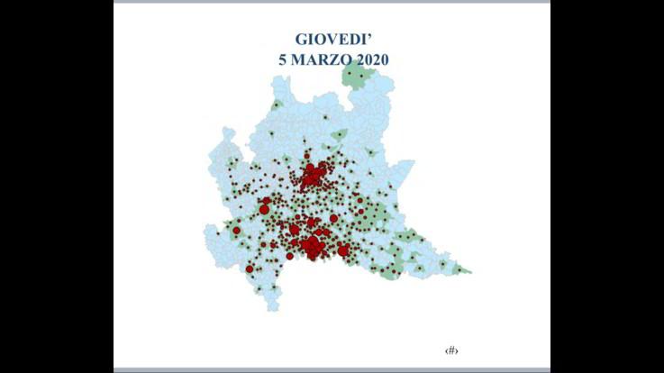 Coronavirus, la cartina della Lombardia con la diffusione del contagio