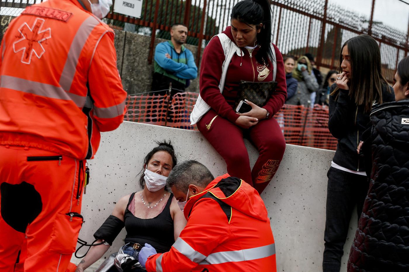 Coronavirus , rivolta nel carcere di Rebibbia a Roma