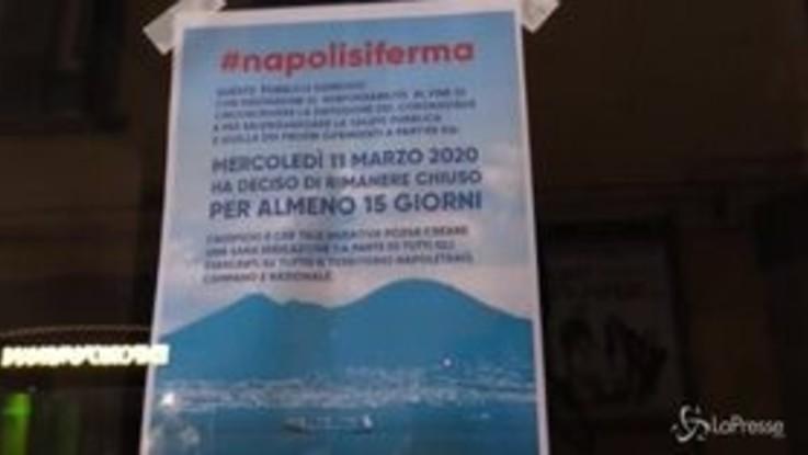 Coronavirus, a Napoli chiudono i locali della movida