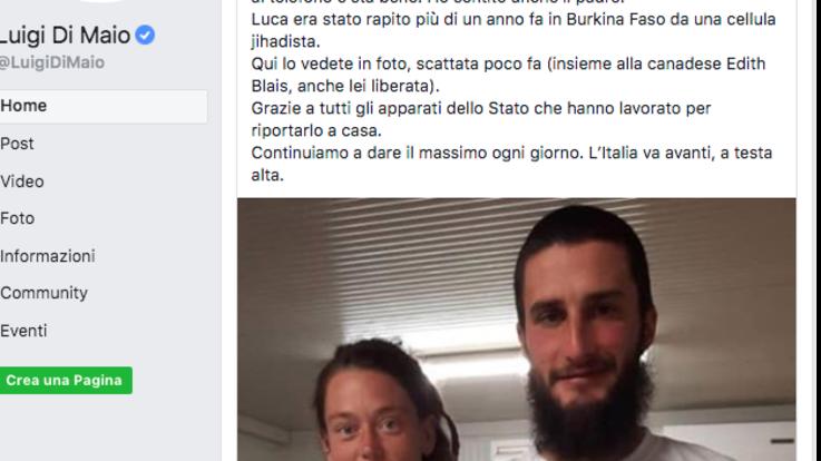 Liberato Luca Tacchetto: l'italiano rapito 15 mesi fa in Burkina Faso