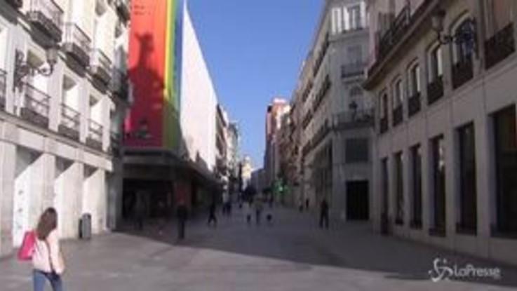 Spagna in lockdown, tutto chiuso tranne farmacie e supermarket