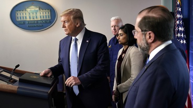 Coronavirus, Trump evoca recessione USA e Wall Street perde il 13%
