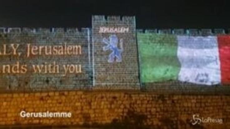 Coronavirus: da Gerusalemme a Dubai, tricolore sui monumenti per solidarietà all'Italia