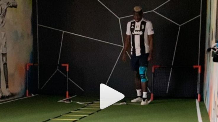Coronavirus, Pogba si allena da casa con la maglia della Juve: omaggio a Matuidi positivo